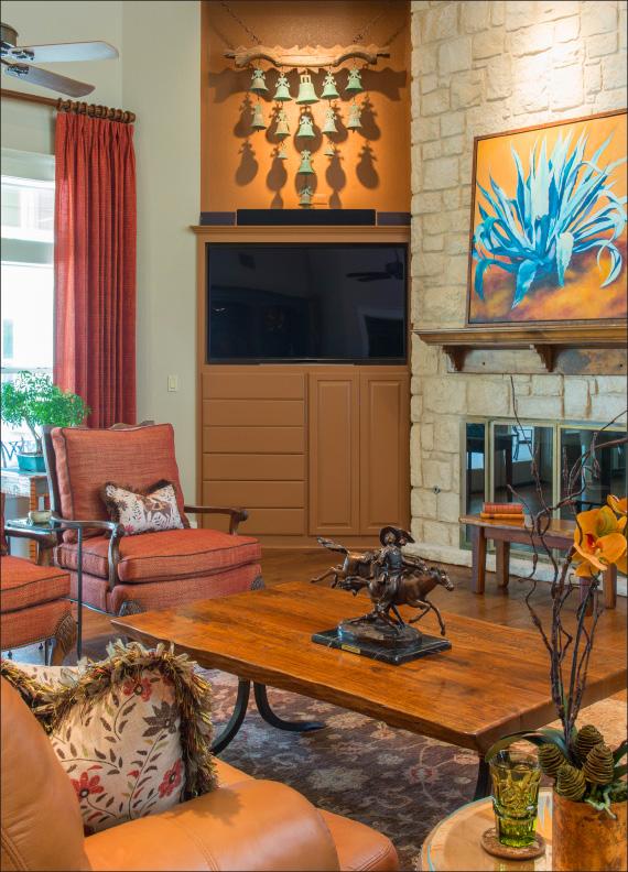 Fair Oaks Ranch | Interior Decoration | Designer Furniture | Custom Drapery | Custom Window Coverings | Betsy Homan Design